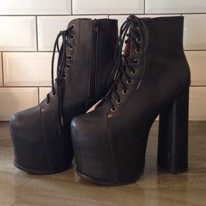 9f9d0a1de91 Jeffrey Campbell Shoes - Jeffrey Campbell Big Lita Platform Boot in Black