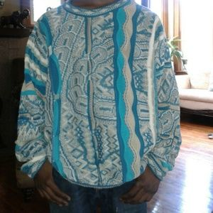 Coogi Sweaters Vintage Coogi Sweater Teal Khaki Lnwot