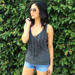 Sale! Gray Textured Tank Top