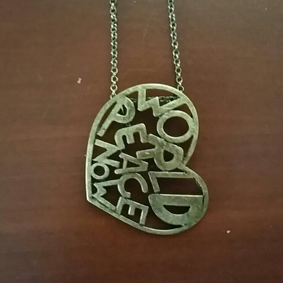 50 off jewelry world peace now necklace from nadines closet on world peace now necklace aloadofball Choice Image