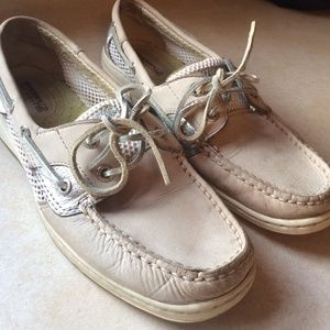 Sperry Top-Sider Shoes - Sperry Top-Sider cream and silver size 7.5