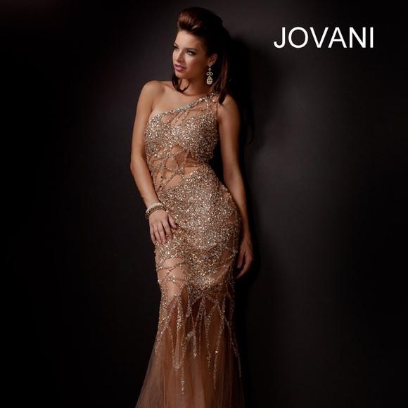 Jovani Dresses | One Shoulder Mermaid Gown 6395 | Poshmark