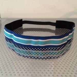 Blue stripe non-slip headband