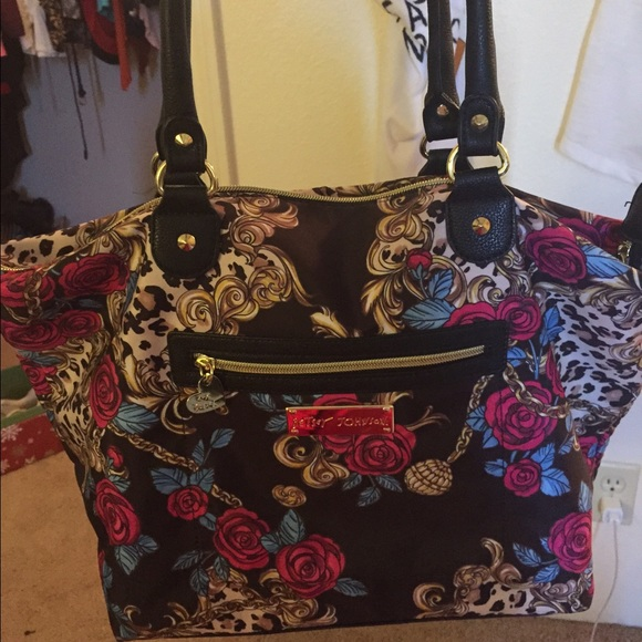 23% Off Betsey Johnson Handbags - Betsey Johnson Floral Cheetah Tote Bag From Jalenu0026#39;s Closet On ...