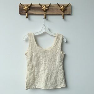 Anthropologie Tops - Tight White Lace Tank