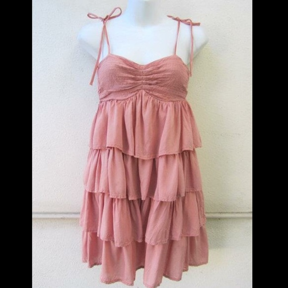 29% off Forever 21 Dresses &amp- Skirts - Pink Tiered Ruffled Babydoll ...