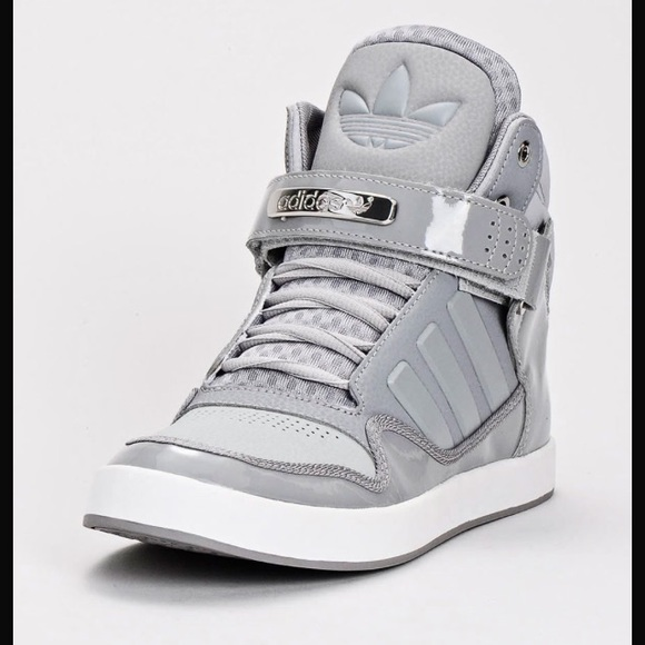 Adidas shoes high tops gray