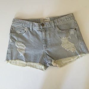 Current/Elliott denim gingham shorts