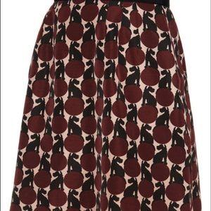 Orla Kiely Spot the Dog grosgrain pocket skirt NWT