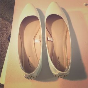 Shoes - Baby blue studded flats