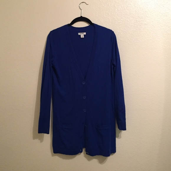60% off Old Navy Sweaters - Old Navy cobalt blue boyfriend ...