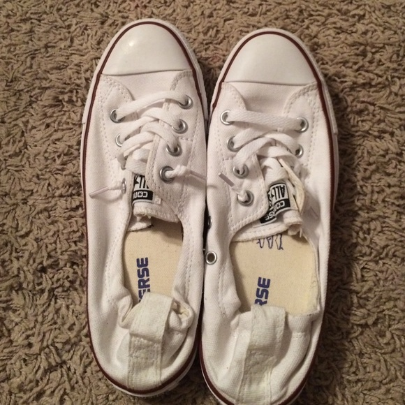 4b597809bc3 Converse Shoes - Womens style slip on white converse