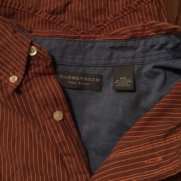 74 off saddlebred other men 39 s saddlebred big and tall for Big and tall button up shirts