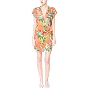 NEW Zara Botanical Print Dress