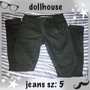 Dollhouse Black Denim Jeans sz 5