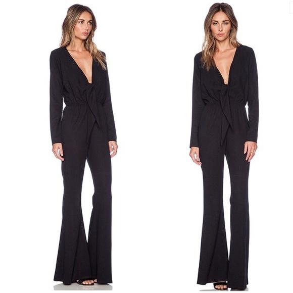 21c871b53f6 Black Long Sleeve 70s Jumpsuit Stardust Jumpsuit