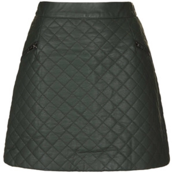91 topshop dresses skirts topshop quilted faux