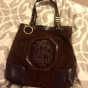 Tory Burch {Authentic} Suede/Leather Tote