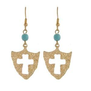 ✨5 for 30✨ Turquoise Cross Earrings
