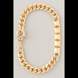 Noir Jewelry Gold Pyramid ID Bracelet Shopbop