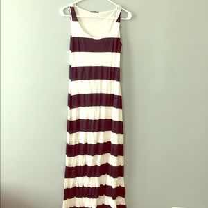 Navy blue/ white striped dress size MEDUIM