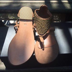JEM Shoes - Gold gladiator sandal- new!!