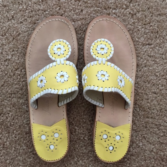 1987eaafc83afb Jack Rogers Shoes - Jack Rogers yellow white sandals