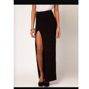 ️NWT Asos petite stretch jersey thigh split skirt