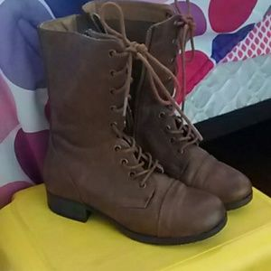 Boots - Brown combat boots