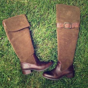 Jessica Simpson Boots - Jessica Simpson brown suede riding boots