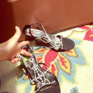 Valerie Stevens Shoes - NWT rhinestone heels
