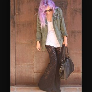Nightcap Pants - NWT Nightcap Spanish Lace Bells, Black, size one