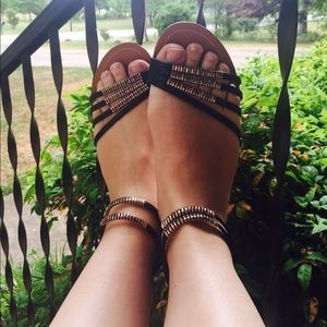 Shoes - Black Fashion Sandals