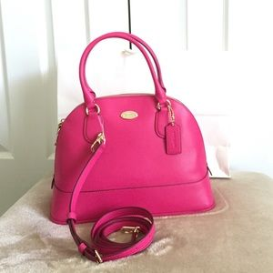 Authentic Coach Cora Domed Satchel