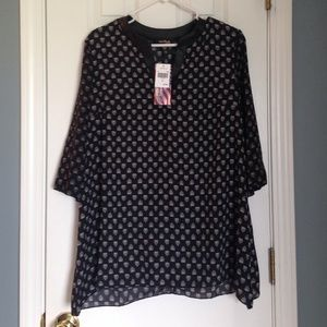 Heart Printed blouse. size  medium