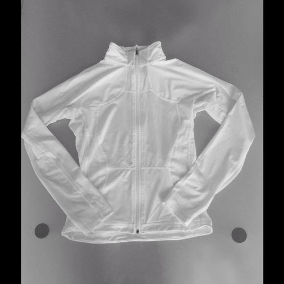 8c09666197 lululemon athletica Jackets & Blazers - Lululemon White Luxtreme Mesh Shape  Up Jacket 6