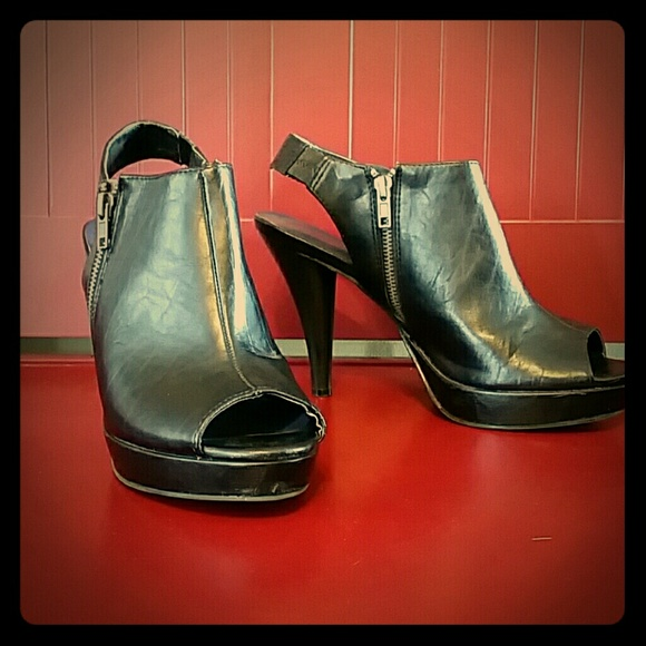 Madden Girl Demaris Black Ankle Boot Pump sizes 7  9.5