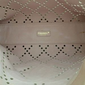 CHANEL Bags   Pink Patent Leather Laser Cut Carry All   Poshmark fdb700c1d9