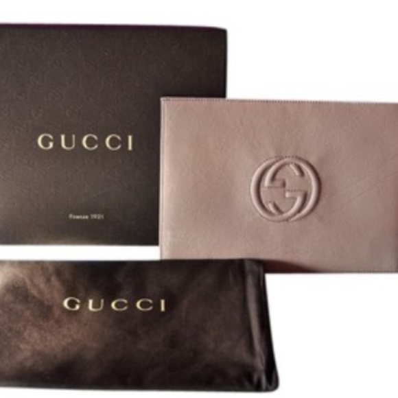 5ca1aa18308c Gucci Bags | Sold Soho Nude Patent Envelope Clutch | Poshmark