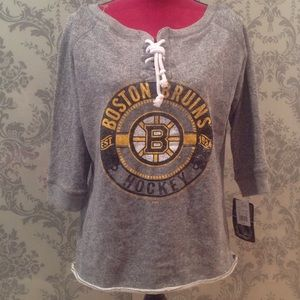Boston Bruins lace up sweater
