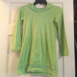 KIDS GREEN JUICY COUTURE TERRYCLOTH DRESS