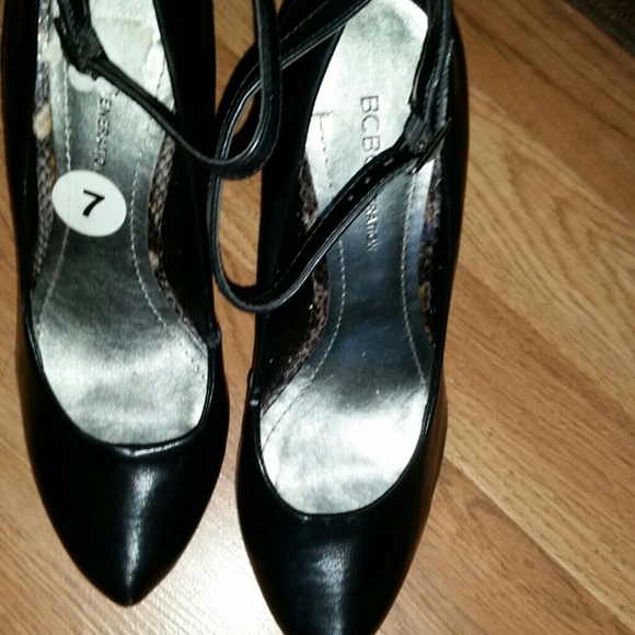86 Off Bcbg Shoes Sexy Black Wedge W Ankle Strap