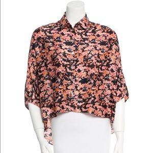 SUNO Tops - SUNO Dolman Sleeve Floral Print Shirt