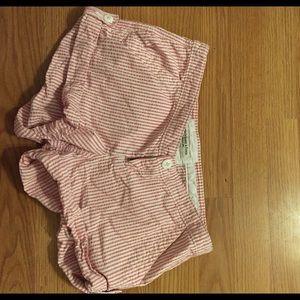 Pants - Pink seersucker shorts!