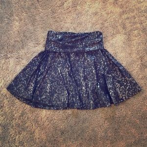 American Apparel Metallic Paint Splattered Skirt