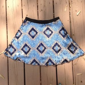 vintage inspired sequence skirt