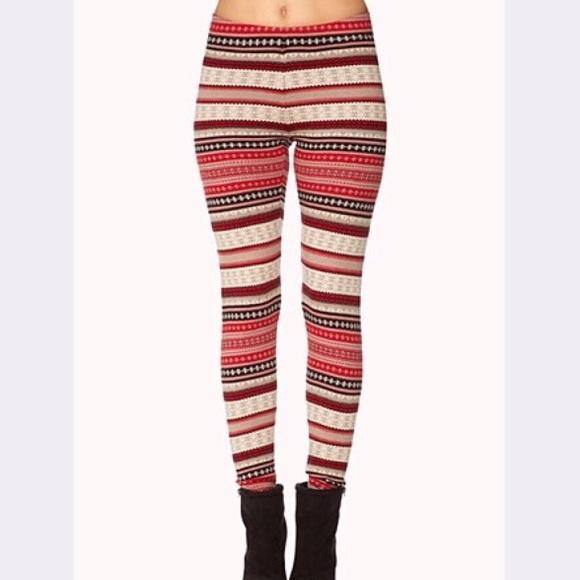 40% off Forever 21 Pants - Forever 21 Cozy-Fair Isle Leggings from ...