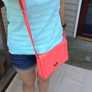 Coral/pink j.Crew cross body purse