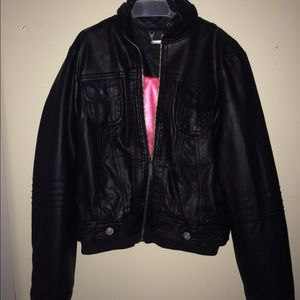 8ff1d8024c65 jcpenney Jackets   Coats - Black leather jacket JcPenney