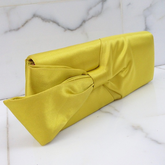 christian louboutin yellow clutch